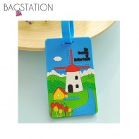 Assorted designs Soft PVC Luggage Tag (Netherland)