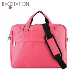 BAGSTATIONZ 2-Way 15.6 Inch Laptop Bag-Pink