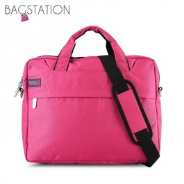 BAGSTATIONZ 2-Way 15.6 Inch Laptop Bag-Rose Pink