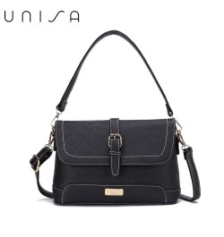 UNISA Saffiano 2-Way Usage Sling Bag-Black