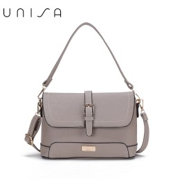 UNISA Saffiano 2-Way Usage Sling Bag-Grey