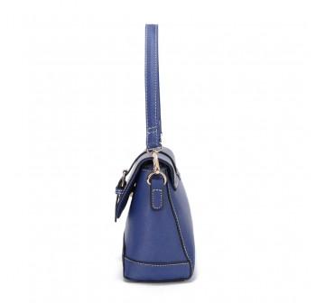 UNISA Saffiano 2-Way Usage Sling Bag-Navy Blue