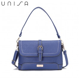 UNISA Saffiano 2-Way Usage Sling Bag-Navy Blue