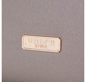 UNISA Saffiano Convertible Satchel-Grey