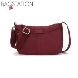 BAGSTATIONZ Crinkled Nylon Mini Sling Bag-Maroon