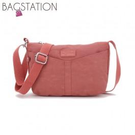 BAGSTATIONZ Crinkled Nylon Mini Sling Bag-Pink