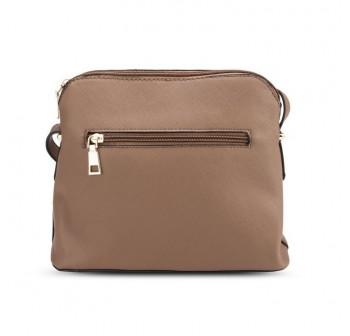 UNISA Saffiano Texture Shell Shape Mini Sling Bag (Khaki)