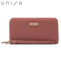 UNISA Textured Ladies Zip-Up Wallet (Pink)